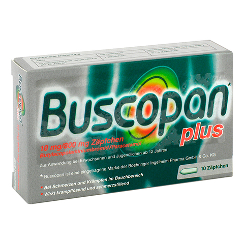 BUSCOPAN plus Suppositorien 10 Stück N1