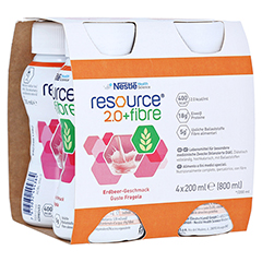 RESOURCE 2.0 fibre Erdbeere 4x200 Milliliter
