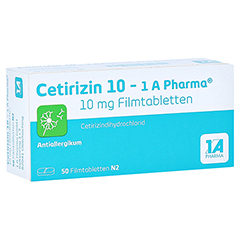 Cetirizin 10-1A Pharma 50 Stück N2