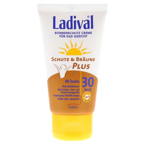 LADIVAL Schutz&Bräune Plus Creme f.Gesicht LSF 30 75 Milliliter