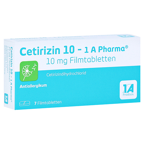 Cetirizin 10-1A Pharma 7 Stück