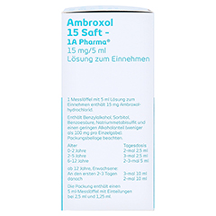 Ambroxol 15 Saft-1A Pharma 100 Milliliter N1 - Linke Seite