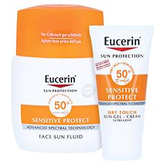 Eucerin Sun Fluid mattierend LSF 50+ + gratis Eucerin Sun Oil Control Body LSF50+ 50 Milliliter