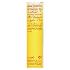 WELEDA Calendula Gesichtscreme 10 Milliliter - Rückseite