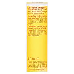 WELEDA Calendula Pflegeöl parfümfrei 10 Milliliter - Rückseite