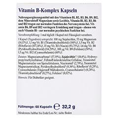 Vitamin B Komplex Kapseln 60 Stück - Rückseite