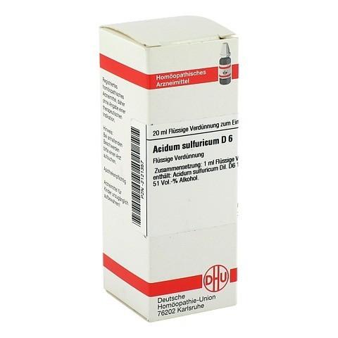 ACIDUM SULFURICUM D 6 Dilution 20 Milliliter N1