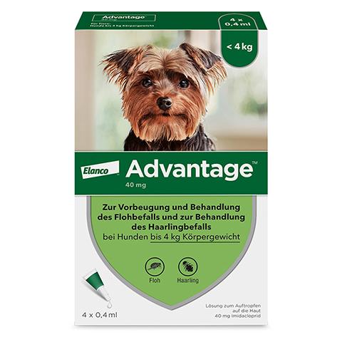 ADVANTAGE 40 mg Lösung Hunde bis 4 kg 4 Stück