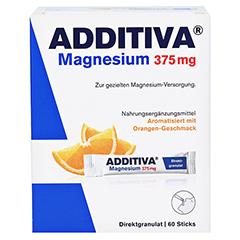 Additiva Magnesium 375 mg Sticks 60 Stück - Vorderseite