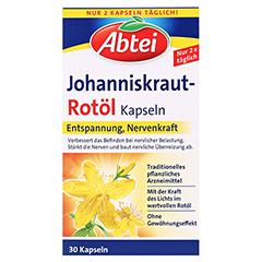 Abtei Johanniskraut-Rotöl Kapseln 30 Stück - Vorderseite
