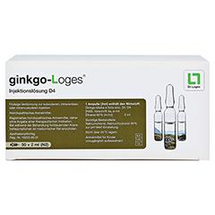 GINKGO-LOGES Injektionslösung D 4 Ampullen 50x2 Milliliter N2 - Vorderseite