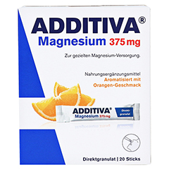 ADDITIVA Magnesium 375 mg Sticks Orange 20 Stück - Vorderseite