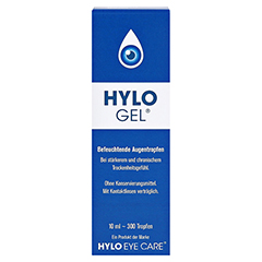 HYLO-GEL Augentropfen 10 Milliliter - Vorderseite
