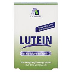 LUTEIN KAPSELN 6 mg+Heidelbeer 120 Stück - Vorderseite