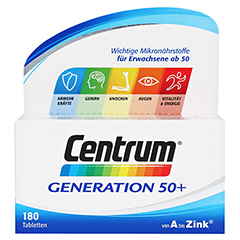 CENTRUM Gen.50+ A-Zink+FloraGlo Lutein Caplette 180 Stück - Vorderseite