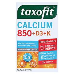 TAXOFIT Calcium 850+D3+K Depot Tabletten 30 Stück - Vorderseite