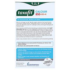 TAXOFIT Calcium 850+D3+K Depot Tabletten 30 Stück - Rückseite