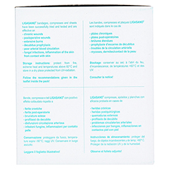 LIGASANO weiß Wundband 0,4x1,5x100 cm mini steril 7 Stück - Linke Seite