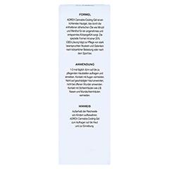 CANNABIS COOLING Gel CBD 100 Gramm - Rückseite
