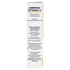 ADDITIVA Vitamin C 1 g Brausetabletten 20 Stück - Rechte Seite