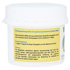 MSM 1000 mg Kapseln 80 Stück - Rechte Seite