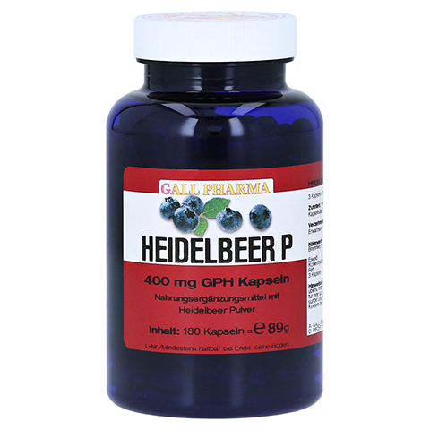 HEIDELBEER P 400 mg Kapseln 180 Stück