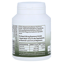 ROSENWURZ 200 mg Vegi Kapseln 120 Stück - Rückseite