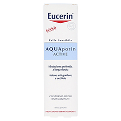 EUCERIN AQUAporin Active Augenpflege Creme 15 Milliliter - Rückseite