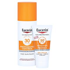 Eucerin Sun Photoaging Control Face Fluid LSF 30 + gratis Eucerin Sun Oil Control Body LSF50+ 50 Milliliter