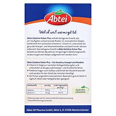 ABTEI Gelatine Plus Vitamin C Pulver 400 Gramm - Rückseite