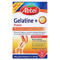 ABTEI Gelatine Plus Vitamin C Pulver 400 Gramm - Vorderseite