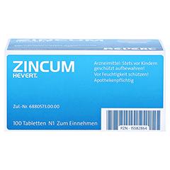 ZINCUM HEVERT Tabletten 100 Stück - Unterseite