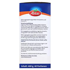 ABTEI Gelatine Plus Vitamin C Pulver 400 Gramm - Linke Seite