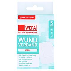 WEPA Wundverband 7,2x5 cm steril 5 Stück - Vorderseite