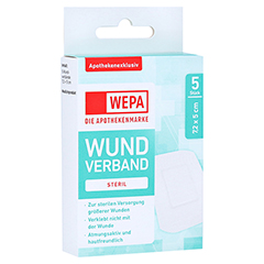 WEPA Wundverband 7,2x5 cm steril 5 Stück