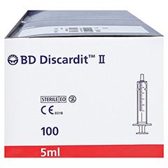 BD Discardit II Spritze 5 ml 100x5 Milliliter - Rechte Seite