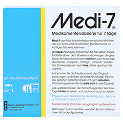 MEDI 7 Medikamentendos.f.7 Tage blau 1 Stück - Rückseite
