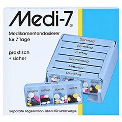 MEDI 7 Medikamentendos.f.7 Tage blau 1 Stück - Vorderseite