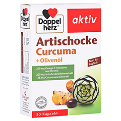 Doppelherz aktiv Artischocke + Olivenöl + Curcuma 30 Stück