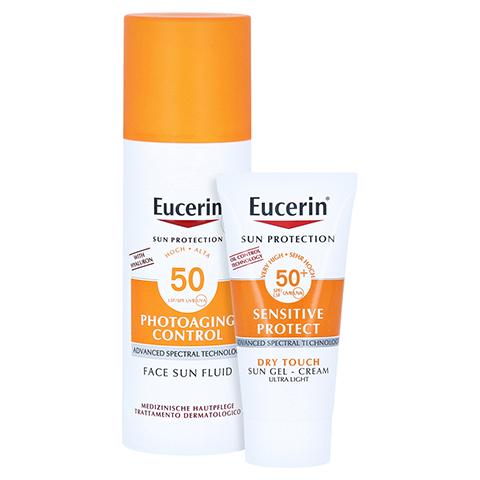 Eucerin Sun Photoaging Control Face Fluid LSF 50 + gratis Eucerin Sun Oil Control Body LSF50+ 50 Milliliter