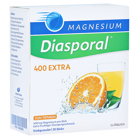 MAGNESIUM DIASPORAL 400 Extra Trinkgranulat 20 Stück