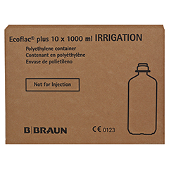 NACL 0,9% B.Braun Ecoflac plus Spüllösung 10x1000 Milliliter - Linke Seite