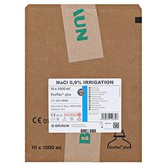 NACL 0,9% B.Braun Ecoflac plus Spüllösung 10x1000 Milliliter - Vorderseite