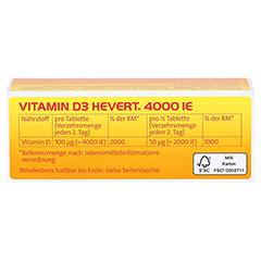 Vitamin D3 Hevert 4.000 I.E. Tabletten 60 Stück - Oberseite