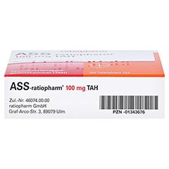 ASS-ratiopharm 100mg TAH 50 Stück N2 - Unterseite