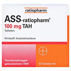 ASS-ratiopharm 100mg TAH 50 Stück N2 - Vorderseite