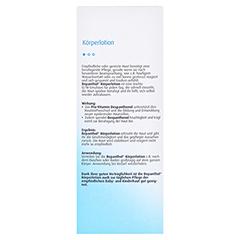 Bepanthol Körperlotion Flasche 200 Milliliter - Rückseite