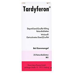 Tardyferon Depot-Eisen(II)-sulfat 80mg 20 Stück N1 - Vorderseite