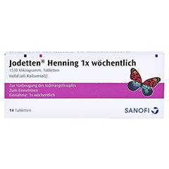 Jodetten Henning 1x wöchentlich 1530 Mikrogramm 14 Stück - Vorderseite