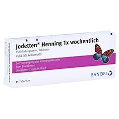 Jodetten Henning 1x wöchentlich 1530 Mikrogramm 14 Stück